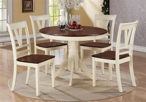 5 pc country 2 tone cherry wood dining table