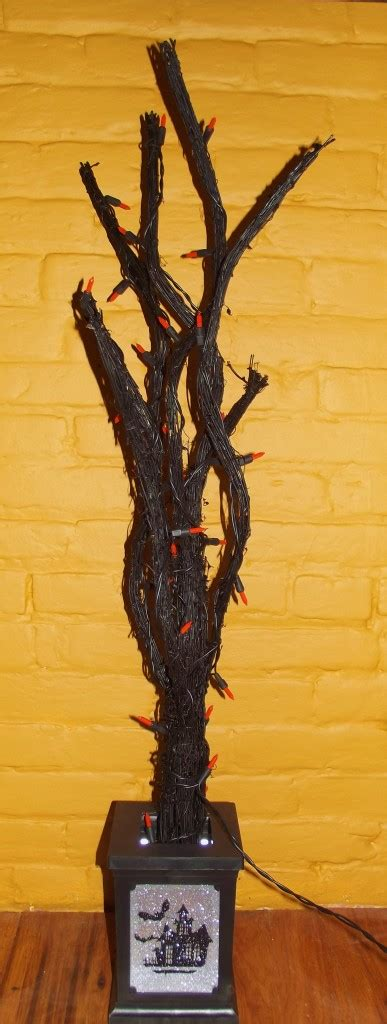 lighted tree in urn haunted black lighted twig tree decoration urn