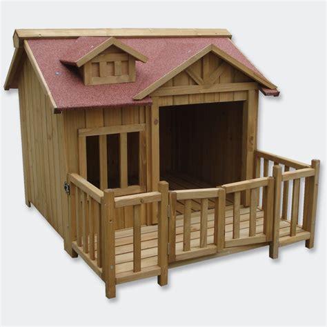 luxus terrasse luxus xl hundeh 252 tte hundehaus massiv holz mit balkon terasse