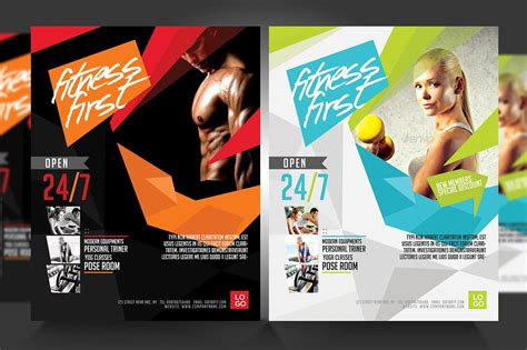 fitness flyer gym flyer v3 flyer templates creative