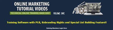Plr Tutorial marketing tutorial plr software review