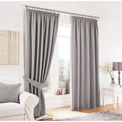 gardinen braun beige lincoln herringbone tweed thick pencil pleat curtains
