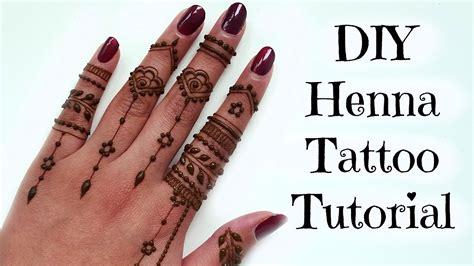 diy easy henna tattoo tutorial tips  tricks youtube