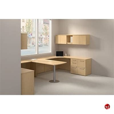 2 Person Work Desk by The Office Leader Bush Realize 2 Person Desk Workstation