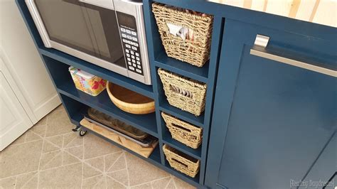 Kitchen Cabinet Types custom diy rolling kitchen island reality daydream