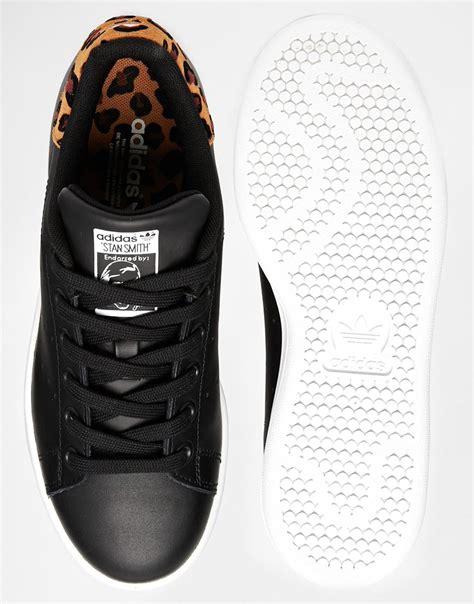 adidas originals stan smith black animal print sneakers