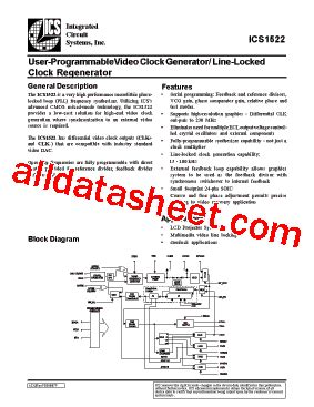 integrated circuits datasheet pdf ics1522 datasheet pdf integrated circuit systems