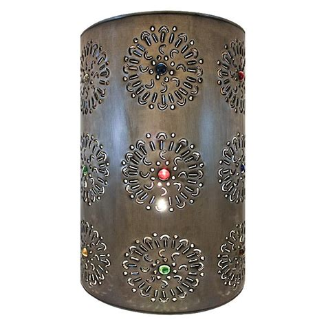 Tin Wall Sconce Mexican Tin Lighting Collection Flores Wall Sconce Lamw05