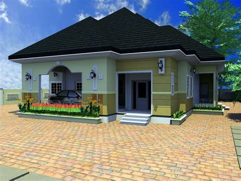 4 Bedroom Bungalow Architectural Design Architectural Design Of A 4 Bedroom Bungalow Home Combo