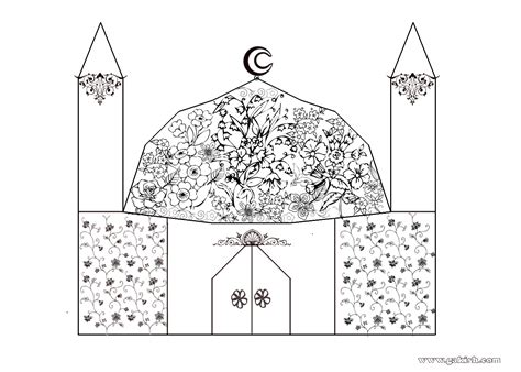 Islamic Coloring Pages Muslim Kids Coloring Page A Islamic Colouring Pages