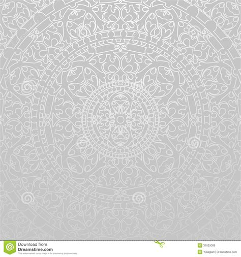vector background pattern gray gray background with oriental decorations stock vector