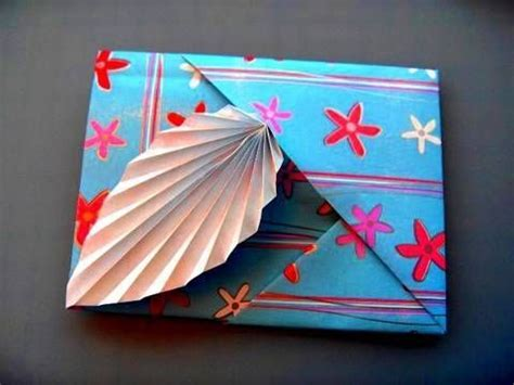 Origami Leaf Envelope - how to make thank you cards and tutorials on