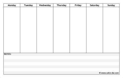 printable weekly calendar sunday through saturday free printable weekly schedule planner with notes weekly