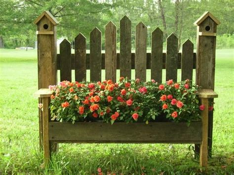 Birdhouse Planters by Birdhouse Benches Planter Box Garden Yard