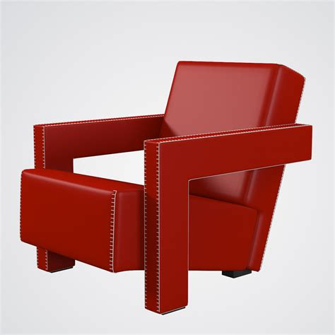 rietveld armchair 3d utrecht chair cassina mode