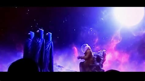 the watcher in the guardians of the galaxy 2 post credit scenes stan lee and the watchers youtube
