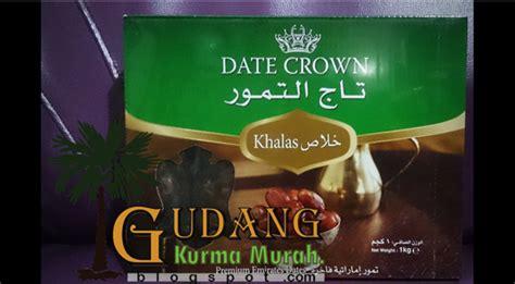 Grosir Kurma Date Crown Khalas 1karton gudang kurma murah date crown khalas jual kurma grosir distributor kurma murah