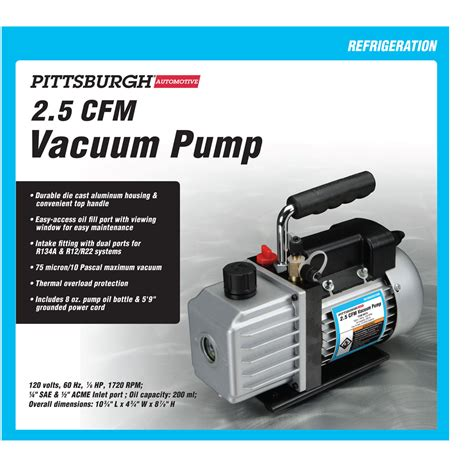 What Does A Vacuum Do Electric Vacuum 2 5 Cfm