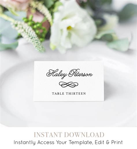 free wedding place card software wedding place card template printable card name