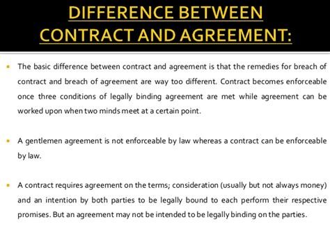 Difference Between Contract And Outline Agreement by What Is The Difference Between A Contract And An Agreement