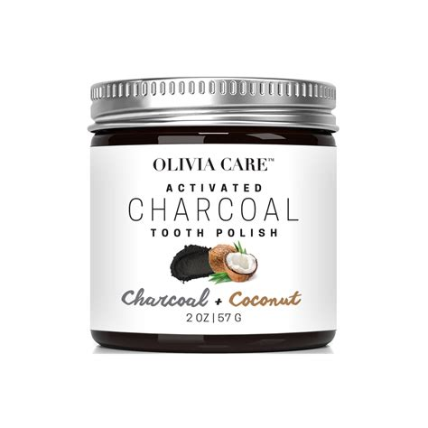 coconut charcoal whitening tooth polish oliviacare