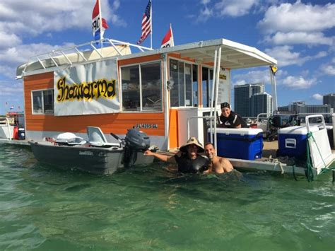food to eat on a boat miamism best food boat shawarma at haulover miamism