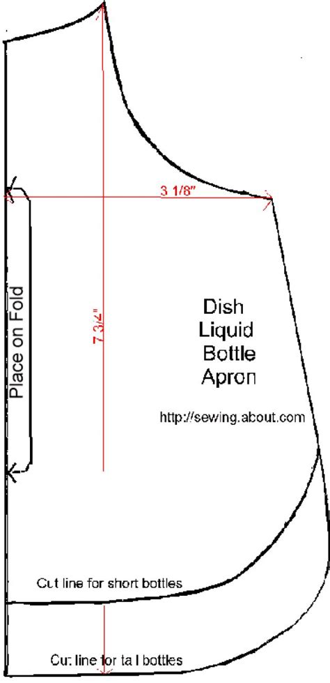 apron pattern for dishwashing liquid bottle sewing apron patterns libraries and dishes