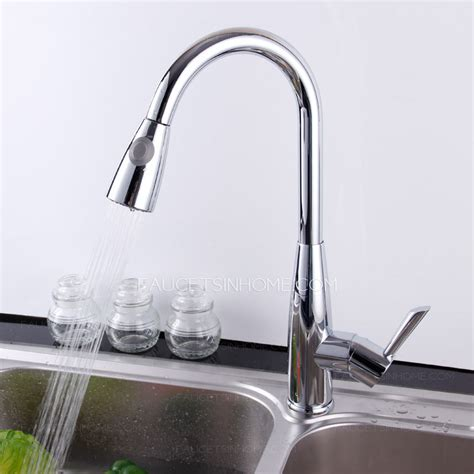 high end thick copper chrome pullout kitchen sink faucet