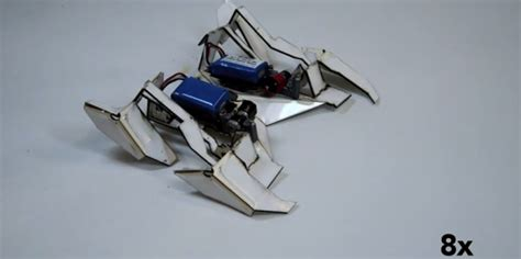 Robot Origami - these origami robots can assemble themselves and walk away