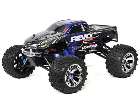 nitro monster truck 4wd traxxas revo 3 3 4wd rtr nitro monster truck tra53097 1