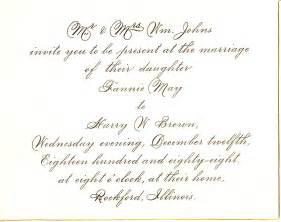 wedding invitation format in wedding invitation wording marriage anniversary