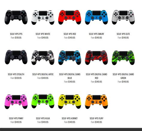 ps4 colors new scuf gaming ps4 controller finally available for pre