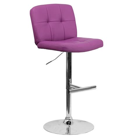bar stools purple flash furniture adjustable height purple cushioned bar