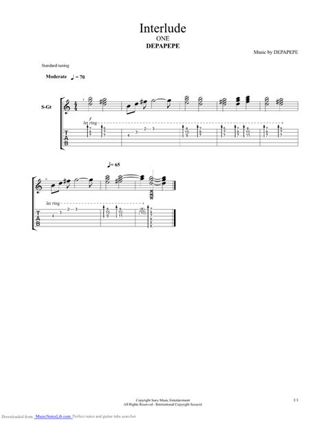 Wedding Bell Tabs by Interlude Guitar Pro Tab By Depapepe Musicnoteslib