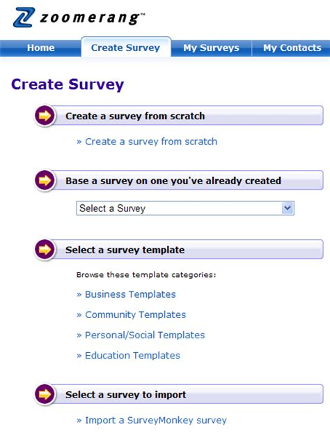 Create A Survey - zoomerang survey software review survey software reviews