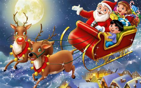 santa s santa s sleigh 727636 walldevil