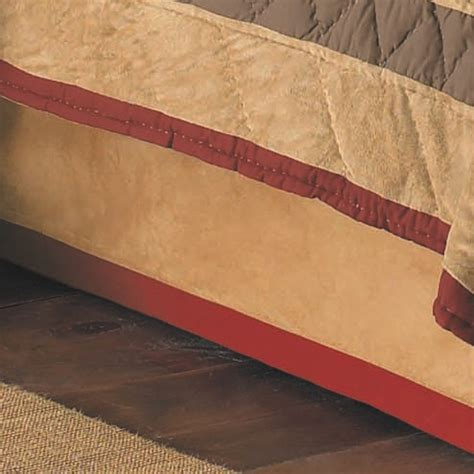tan bed skirt tan faux suede bedskirt twin