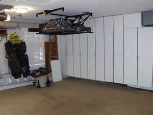 Garage Storage Options Lift For The Lawnmower And Stuff Ceiling Overhead