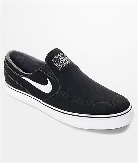 Free Slip On Nike nike sb zoom stefan janoski black white slip on skate
