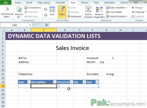dynamic data templates excel dynamic data validation lists explained