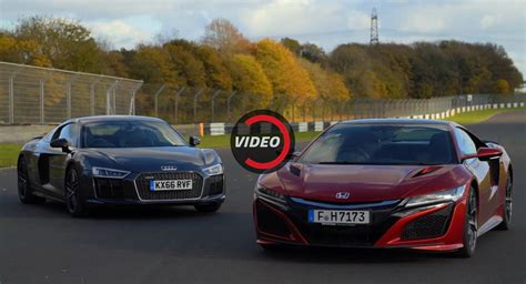 Nsx Vs R8 by Honda Nsx Vs Audi R8 V10 Plus Is Digital Vs Analogue