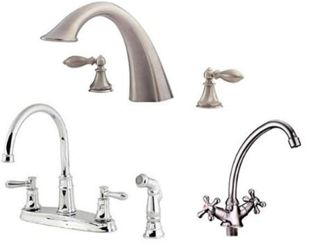 types of faucets kitchen home and kitchen design ideas