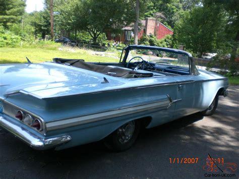 impala years clean original 1960 chevrolet impala convertible stored