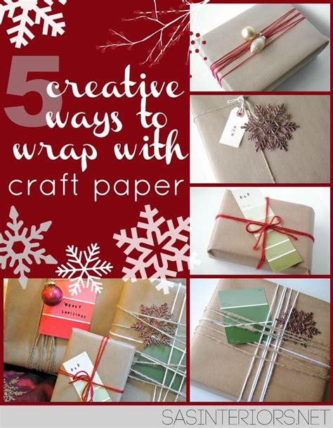 creative ways to wrap christmas gifts 5 creative ways to wrap with craft paper burger