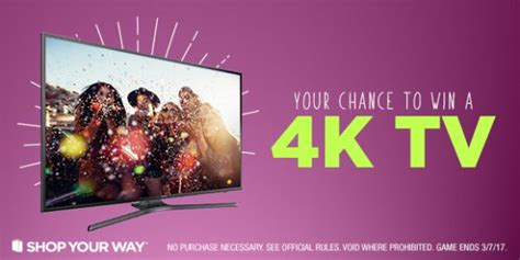 Shop Your Way Instant Win - shop your way awesome 4k smart tv instant win game