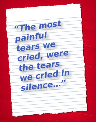 The Tears We Cried In Silence Best Life Quotes Poems   the tears we cried in silence best life quotes poems