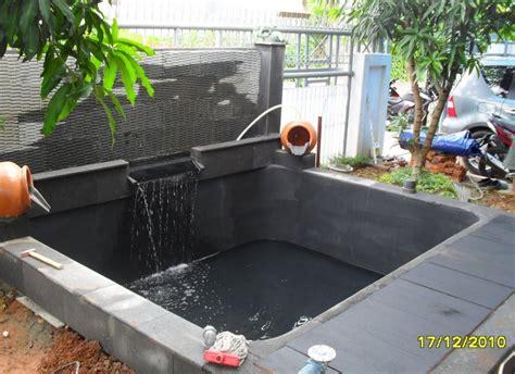 gambar model kolam ikan hias taman ban bekas tambahkan
