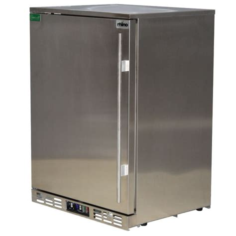 Bar Refrigerator Rhino 1 Door Commercial Alfresco All Stainless Steel Bar