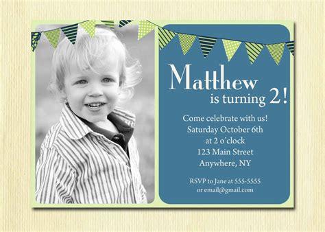 birthday baby boy invitation 1st 2nd 3rd 4th birthday - Birthday Invitation Baby Boy 2