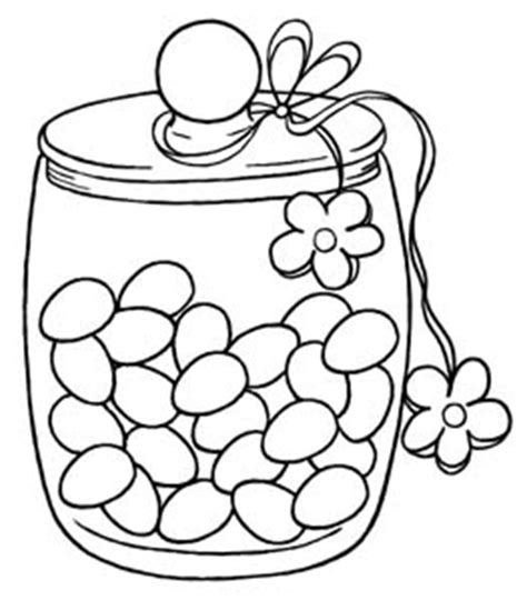 Jelly Bean Jar Coloring Page Coloring Pages Jelly Bean Coloring Page